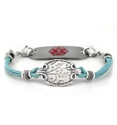 Robin's Egg Medical ID Bracelet | Lauren's Hope