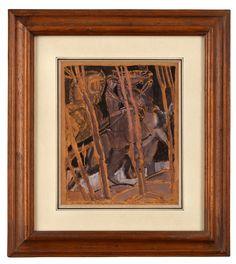 Emile-Antoine Bourdelle (Montauban 1861 – Le Vésinet 1929)L'AmazoneGouache sur traits de plume et encre noire, 22x18 cmTitré : Un beau modèle d'Amazone, dédicacé à madame Machials @artfinding.com
