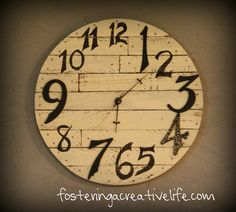 Thrifty Pottery Barn Clock @fosteringacreativelife.com