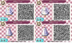 Winter snowflake sweater dress: ACNL QR clothes