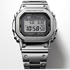 Casio G-Shock Metal Bluetooth Radio Controlled Solar Classic Watch. Automatic time adjustment, easy watch setting (world time for over 300 cities + original point, alarm setting, localised calendar setting), Phone Finder. G Shock Watches, Casio G Shock, Cool Watches, Watches For Men, Sport Watches, Casio Vintage, Vintage Watches, G Shock Men, Bluetooth Watch