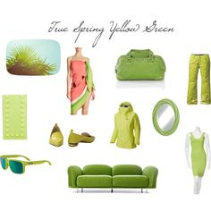 True Spring Yellow Green by christinems on Polyvore featuring Mode, Hervé Léger, Mountain Hardwear, Nicholas Kirkwood, H Hilfiger, Kate Spade, Valentino, Oakley, Moooi and Marmont Hill