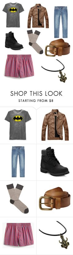 """Teen Dean Winchester"" by they-them-there ❤ liked on Polyvore featuring Hybrid, A.P.C., Timberland, Falke, prAna, J.Crew, men's fashion and menswear"