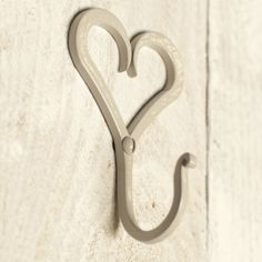 Forged Heart Hook in Clay  http://www.jim-lawrence.co.uk/mothersday  #mothersday