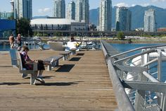 Street furniture designed for the Olympic Village in Vancouver by PWL partnership