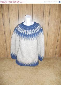 20 off SALE SALE SALE   Vintage wool sweater by ATELIERVINTAGESHOP, $30.40