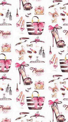 Parisian French inspired girly feminine iPhone background wallpaper. #iphonewallpaper Fashion Wallpaper, Trendy Wallpaper, Pretty Wallpapers, Iphone Background Wallpaper, Cellphone Wallpaper, Chanel Art, Retro Poster, Printable Planner Stickers, Printables