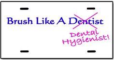 dental hygienist license plate