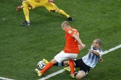 "Robben habló de la histórica jugada en la que Mascherano ""se abrió el ano"""