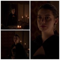 Mary's Black and Gold Dress (with black cloak) 2x22: Burn