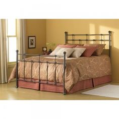 Dexter Iron Bed in Hammered Brown  $423 , ONLY IN HAMMERED BROWN FINISH