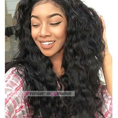 Premier 140% Dendity Weavy Human Hair Wig Brazilian Remy Human Hair Lace Front Wigs For Black Women Glueless Brazilian Loose Wave Wigs 24 Inch Natural Color Body Wave Human Hair Wigs * You can find more details by visiting the image link.