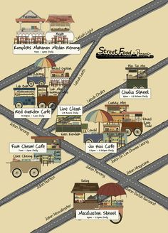 Street Food map of Penang by Ferawaty Ranti
