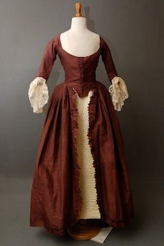 "Robe a la polonaise, 1770-80, Meg Andrews Maybe Claire's ball robe in ""Echo""? The colours are definetly ""hers""...."