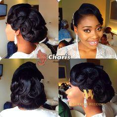 Nigerian wedding black bridal hair ideas and inspiration 35