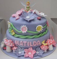 Tinkerbell cake idea for Poppy's birthday