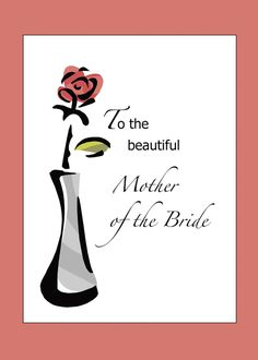 Mother of the Bride Congratulations with Rose, Wedding card Mother of the Bride Congratulations with Rose, Wedding card , STEP-BY. Rose Wedding, Mother Of The Bride, Navy And White, Wedding Cards, How To Find Out, Congratulations, Mother Card, Beautiful, Shaggy