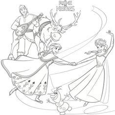 Frozen Coloring Pages, Disney Princess Coloring Pages, Disney Princess Colors, Cool Coloring Pages, Coloring Book, Pokémon Kawaii, Frozen Sisters, Disney Frozen Party, Picture Puzzles