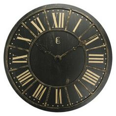 Vintage Wall Clock - Black : Target Mobile