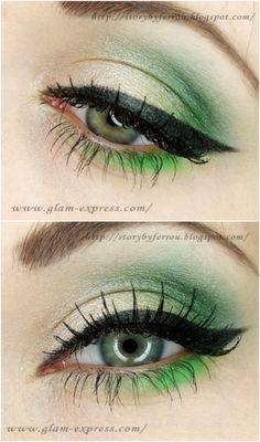 Green Eyes - 10 Stylishly FestiveChristmas Makeup Ideas