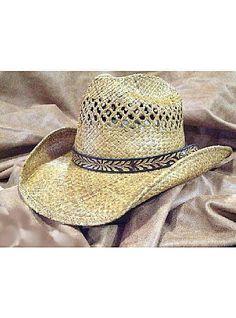 2f6c726585d Shady Brady Hats Old West Collection Western Cowboy Raffia Straw Vented Hat  1WW03  strawhat Western