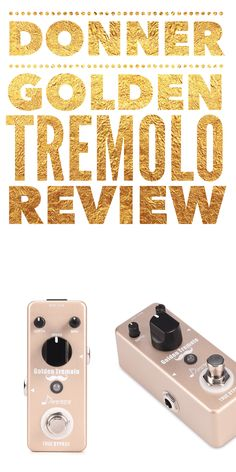 Donner Golden Tremolo ★ First Look ★ Review MINI Guitar Pedal