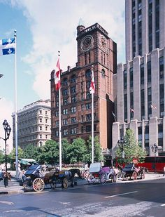 Place dArmes in Montreal, Canada  The ride in a caleche was lots of fun!