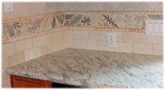 custom ceramic tile leaves, marble looking leaf tile back splash