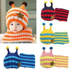 Your little baby will look so cute in these cute knitted #hatscarfset! And will love wearing them.Warm your baby right now!http://www.tomtop.cc/e2mQ3y