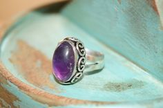 Boho Ring, Bohemian Ring, Cocktail Ring, Free People Handmade, Yoga Ring, Amethyst Ring, Gemstone Ring by Sonajewelry on Etsy