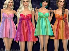 Sparkle Chiffon Babydoll Dress by Harmonia at TSR