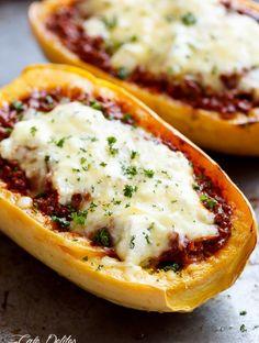 ... spaghetti squash, bolognese sauce, creamy ricotta and mozzarella