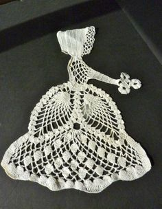 Vintage Crocheted Victorian Lace Lady by BonniesVintageAttic, $22.95