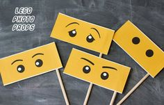 free pdf lego photo booth props