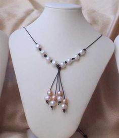 Knotted Freshwater Pearl Necklace