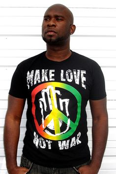"""""""MAKE LOVE NOT WAR RASTA"""" CLEARANCE ON SALE AT FOR $12.95 AT CYEVOLUTION.COM LIMITED SIZES LEFT 100% COTTON VINTAGE FEEL TEE  RASTA COLORS  """"MAKE LOVE NOT WAR""""  A CLASSIC QUOTE THAT STILL HOLDS TRUE. NO MORE FIGHTING WITH THE WORLD OR OURSELVES. RED GOLD GREEN PEACE SYMBOL WITH PEACE HAND. SIZES AVAILABLE: 7S, 1M, 1XL , 1XXL #COOYAH #FASHION #REGGAE #RASTA #CLOTHING"""