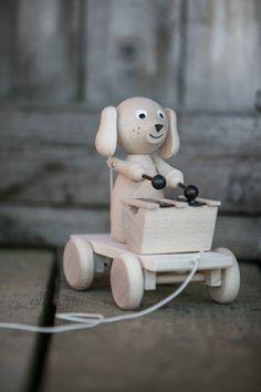 Dragleksak Trä- Levi Hund Med Xylofon