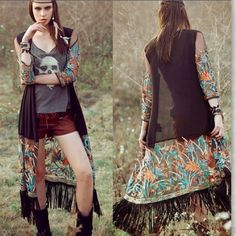 Embroidered tassel cardigan Super chic and beautiful, rocking this summer. NWOT. One size Other