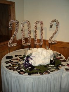 Class Reunion Memorial Table Ideas in memory of table i did for my 20 year high school reunion Creative And Inexpensive Class Reunion Decoration Cut A Piece Of Foam Board Into Your Class