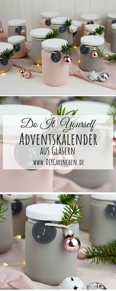 DIY – Upcycling Adventskalender aus alten Gläsern einfach selber machen – Keep up with the times. Christmas Calendar, Diy Advent Calendar, Christmas Time, Christmas Gifts, Xmas, Plaid Christmas, Christmas Decor, Upcycled Crafts, Diy And Crafts