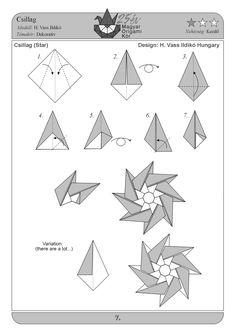 Origami - Papírvarázslat - Képgaléria - Diagrams - Rajzok
