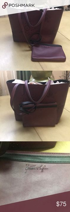 Kendall and Kylie Handbag This is nice large burgundy handbag with smaller bag inside. Nice color rare find. Thanks for visiting my closet. New items are posted daily. 20.5 width/ length 12 inches. Kendall & Kylie Bags Shoulder Bags