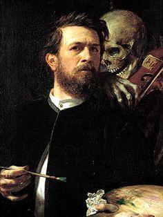 Arnold Bocklin, Autoritratto con la morte che suona il violino, 1872, Nationalgalerie, Berlin.