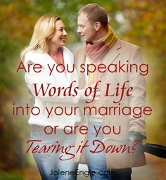 Our words matter and they matter to our marriage.  Here's a peak into what I do to speak words of life in my marriage.