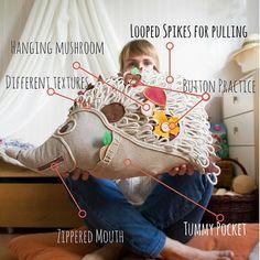Big Stuffed Animal Hedgehog,Kids trending toys,  Plush Toy Pillow by TAHnkfulNatureplay