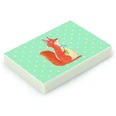 """Radiergummi Eichhörnchen Blume aus Natur Kautschuk   weiß - Das Original von Mr. & Mrs. Panda.  Die einzigartigen Radiergummis von Mr. & Mrs. Panda sind wirklich sehr besonders - sie werden komplett in deutschland gefertigt und von uns in der Manufaktur liebevoll bedruckt. Die Größe beträgt 46 mm x 33 mm und es handelt sich um ein hochwertiges, deutsches Markenprodukt.    Über unser Motiv Eichhörnchen Blume  Unser Eichhörnchen aus der """"Small World"""" - Kollektion freut sich, dass es so eine…"""