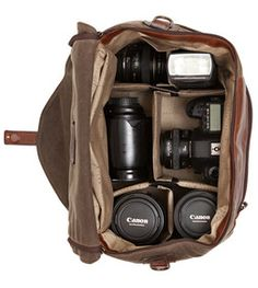 Waxwear Rangertan Camera Bag - Photographer Rick Lew teams up with Moore and Giles to create a timeless and functional design