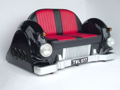Mercedes Car Sofa -Black Sofa - has cOOl working Headlights For Sale Car Sofa, Sofa Couch Bed, Chair Bed, Tiny Man Cave Ideas, Best Leather Sofa, Leather Couches, Cheap Sofas, Cool Couches, Sofa Inspiration