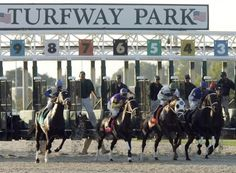 Horse race near where I lived at one time. Turfway Park