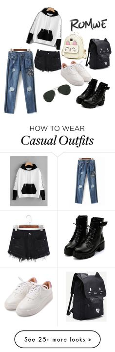 """casual"" by alankriti on Polyvore featuring Ray-Ban"